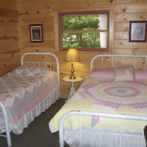 Double and single beds