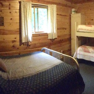 Bedroom 2: with full and bunk beds