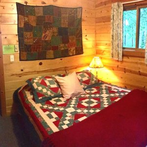 Bedroom 1: Queen-sized bed